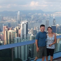 Kowloon, the harbour and HK island in the background