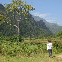 The area surrounding Vang Vieng is drop dead gorgeous